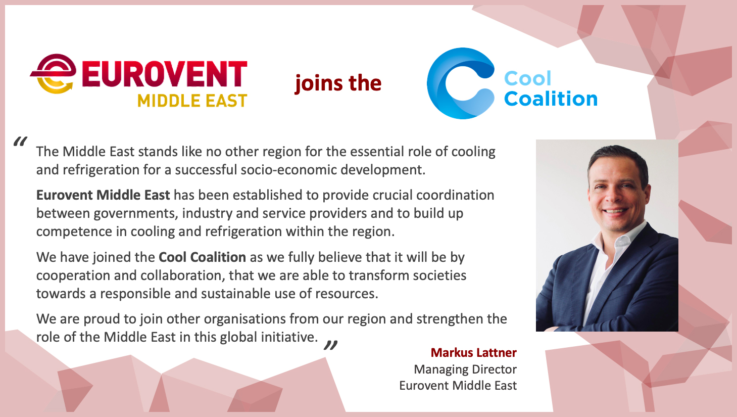 2021 - Eurovent Middle East joins UN Cool Coalition