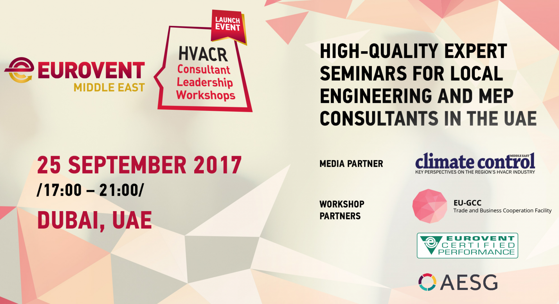 2017 - Consultant workshops by Eurovent Middle East - Launch event